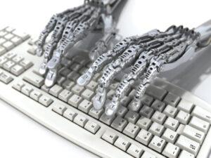 Robot at the keyboard