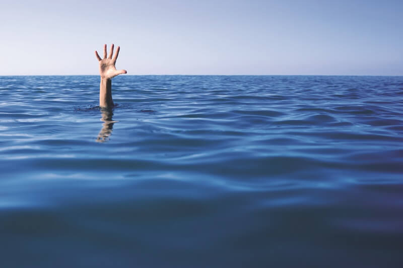 Not drowning, just waving